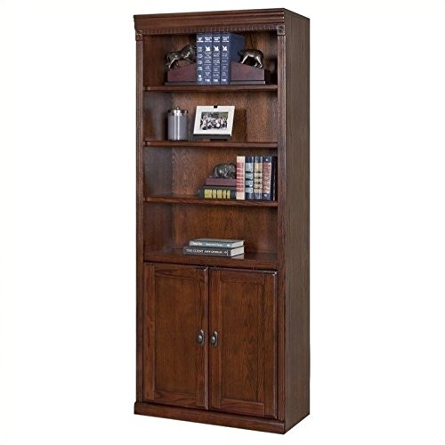 (Martin Furniture Huntington Oxford Library Bookcase With Lower Doors, Burnish Finish, Fully Assembled)