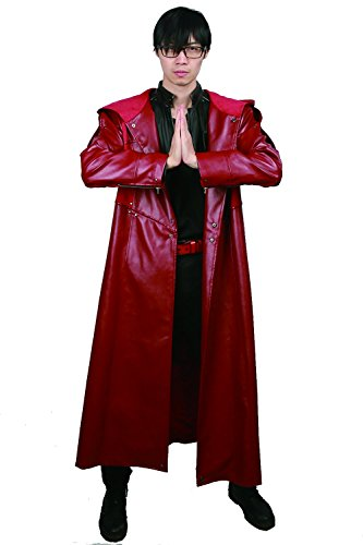 (XCOSER Fullmetal Alchemist Cosplay Edward Elric Costume Mens Deluxe PU Leather Outfits for)