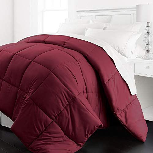 Beckham Hotel wide variety 1200 Series - light-weight - Luxury Goose downward recommended Comforter - Hotel high-quality Comforter and Hypoallergenic - King/Cal King - Burgundy Black Friday & Cyber Monday 2018