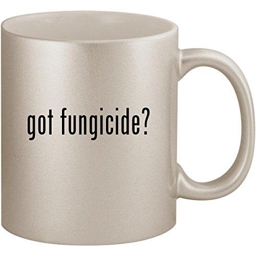 (got fungicide? - 11oz Ceramic Coffee Mug Cup, Silver)