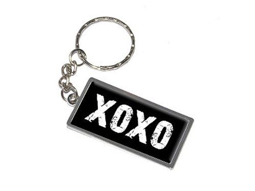 (Graphics and More XOXO Hugs and Kisses Keychain Ring (K0282))