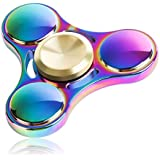ATESSON Fidget Spinner Toy Ultra Durable Stainless Steel Bearing High Speed 5-7 Min Spins Precision Metal Hand...