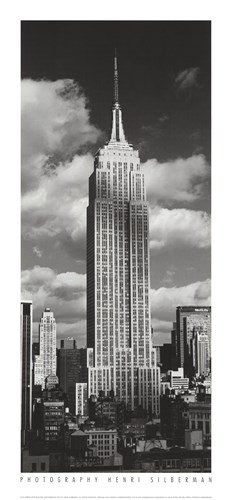 (Empire State Building by Henri Silberman - 9x19.5 Inches - Art Print Poster )