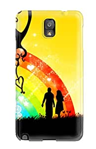 New Arrival Premium Galaxy Note 3 Case(love Rainbow)