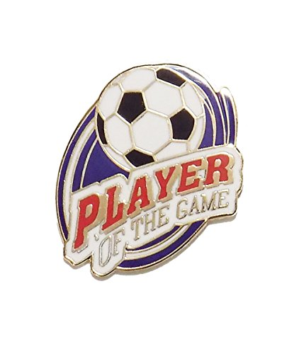 # 30 Player of the Game Soccer Pin (1 inch actual size)