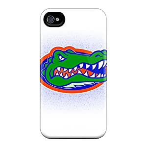 Marycase88 Iphone 4/4s Shock Absorbent Hard Phone Covers Support Personal Customs Realistic Florida Gators Skin [ihH7081FcJP]
