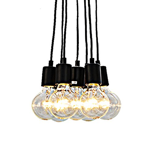 Unitary Brand Vintage Multi Barn Pendant Light Max 280w with 7 Lights Painted Finish (Multi Pendant Light Fixture)
