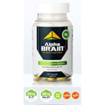 Alpha Brain By Onnit Labs | Advanced Brain Booster Nootropic Supplement 30 Ct | As Seen on the Joe Rogan Experience