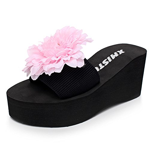 Donne Pantofole colore Estate Haizhen Freddi Scarpe Per heeled 3 5 Eu38 Da 7cm uk5 Le Dimensioni 1 Di Pistoni Femmina I Dei Modo cn38 Donna High Antisdrucciolevoli HpHUq6rwc