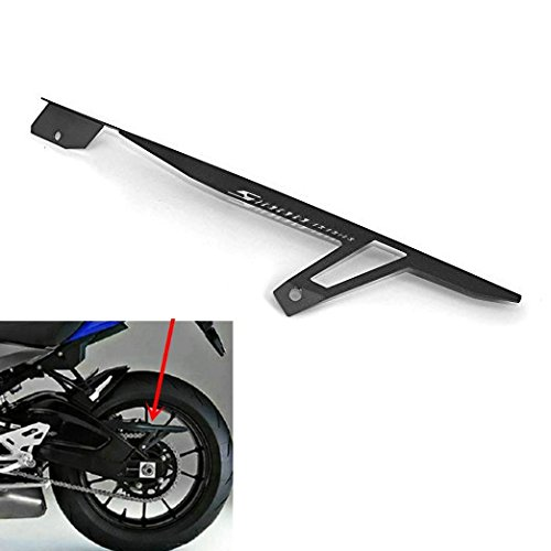 09 Chain Guard (JFG RACING CNC Aluminum Chain Guard Cover Shield Protector for BMW S1000RR S1000R 09-16 Black)