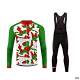 Uglyfrog Mens Cycling Clothing Set Autumn Winter Long Sleeve Windproof Cycling Jersey Coat Jacket with 3D Padded Pants Trousers Camouflage Fashion Shine UKH19LJDT02