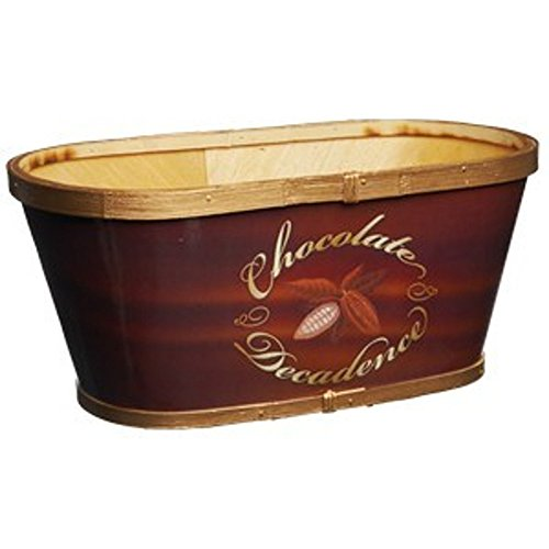 Gift Basket Container Splitwood Oval Box Storing or Decorations -Emblem of