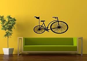 Wall art vinyl sticker decal mural decor retro for 70 bike decoration