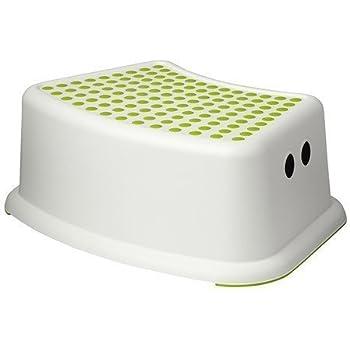 Amazon Com Ikea Step Stool Green White Children S 2