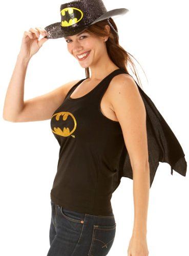 Déguisement Adulte Costume Femme Carnaval Haut Batgirl avec Cape
