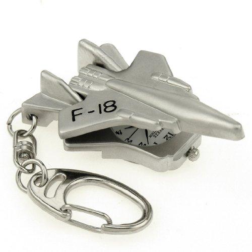 Fighter Pilot Watch - JAS Unisex Novelty Belt Fob/Keychain Watch - F18 Fighter