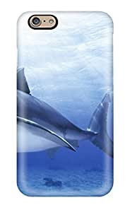 Durable Defender Case For Iphone 6 Tpu Cover(funny Shark Picture)