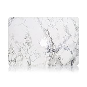 """Ruban - AIR 13-inch White Marble Rubberized Hard Back Case for MacBook Air 13.3"""" (A1466 & A1369) (NEWEST VERSION) Shell Cover - White Marble"""