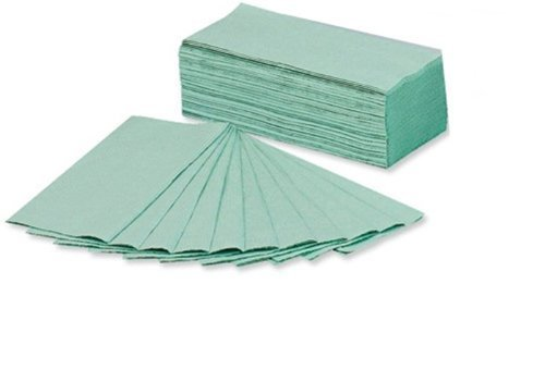 2 x 230 x 305 mm C Fold Paper Towels Includes 144 Towels Per Sleeve Sheet, Pack of 20, Green 5 Star