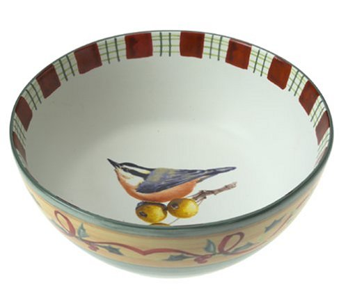 (Lenox Winter Greetings Everyday Stoneware Nuthatch All Purpose Bowl)