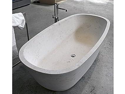 Vasca Da Bagno Pietra : Antonio lupi baia vasca da bagno in pietra baia pietra luna: amazon