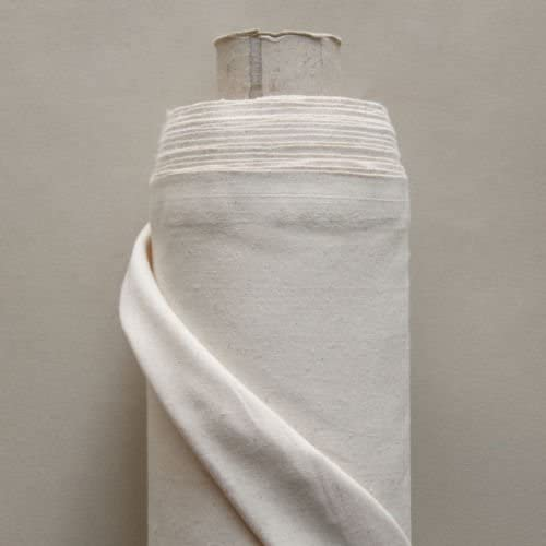 Rollo de 50 metros de algodón calico 100% - color natural: Amazon.es: Hogar