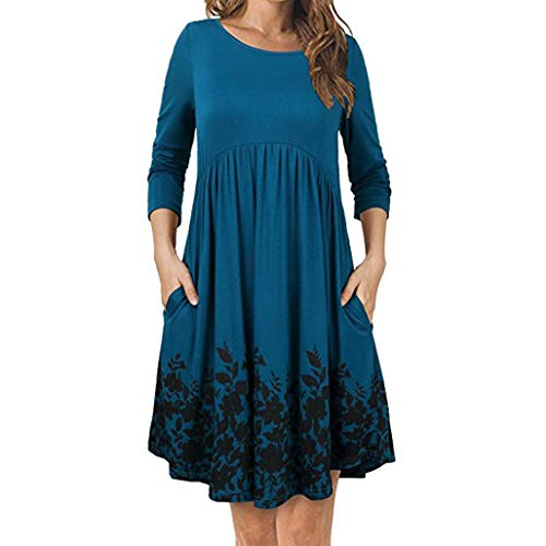 Christmas-Dress-Gillberry-Womens-T-Shirt-Dress-with-Pockets-Long-Sleeve-Floral-Pleated-Swing-Dress
