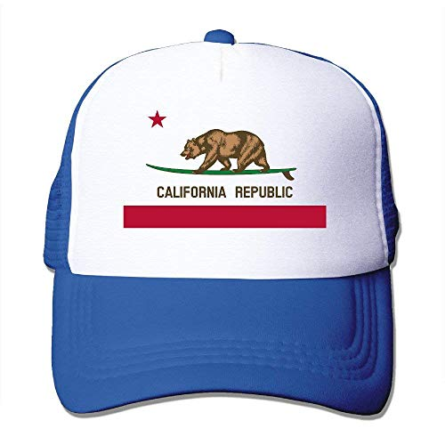 Surfing Dad California Black Flag Bear Unisex Hat Cali Cap Trucker amp;GF DH wxCqEz5HH