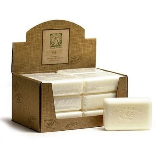 (Case of 12 bars Pre de Provence 250g Milk Shea Butter Enriched Triple Milled Soap)