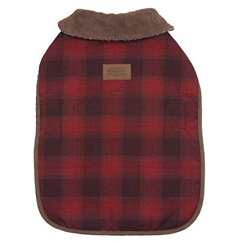 Faux Dog Suede Coat (Carolina Pet Pendleton Red Ombre Dog Coat Small)
