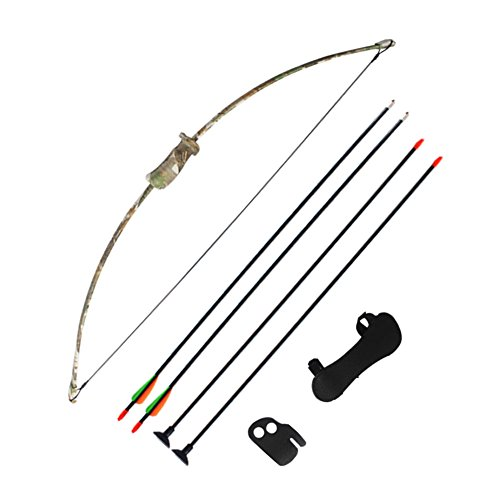 Archery Training Kids Bow Longbow Children Junior Gift Toy Outdoor GameSports Stealth (Longbow Bow)