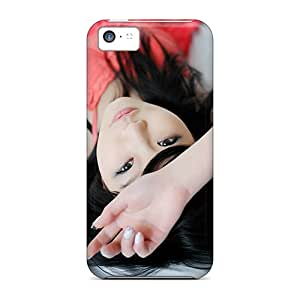 Faddish Phone Nail Polish Asian Girl Hd Case For Iphone 5c / Perfect Case Cover
