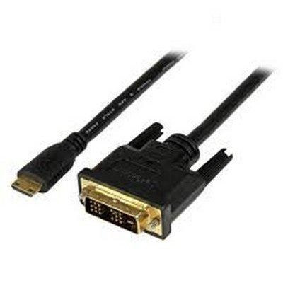 StarTech.com Mini HDMI to DVI-D Cable - Video cable - HDMI / DVI - 30 AWG - 19 pin mini HDMI (M) - 19 pin digital DVI (Dual-Link) (M) - 3.3 ft - shielded - black - HDCDVIMM1M - Dvi Hdmi Digital M/m Cable
