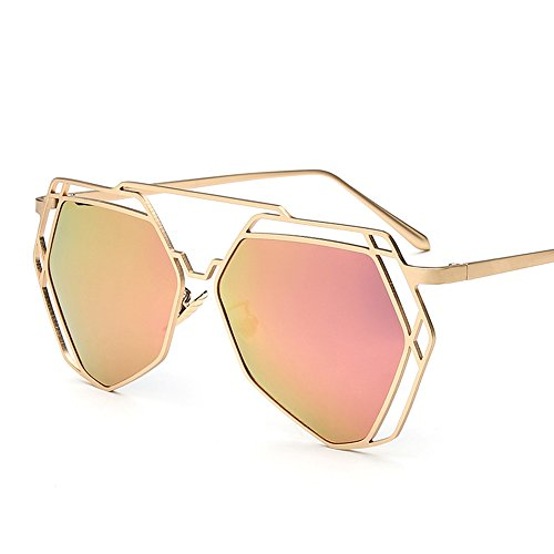 Lunettes Frame Mirror métal Polygon Casual Mirror Beach D D soleil Polarizer Couple de Amazing Couleur wqCwInRxTH