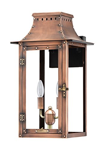 Antique Copper Outdoor Post Mount - Primo Lanterns BB-19E Copper Lantern