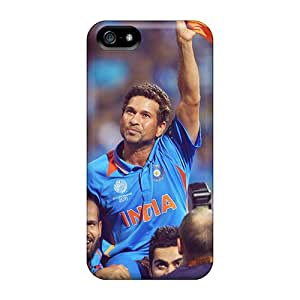 Apple Iphone 5/5s XZD10944EYIm Unique Design Trendy Sachin Tendulkar God Of Cricket Image Shock Absorption Hard Cell-phone Cases -ErleneRobinson