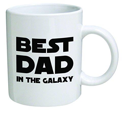 Funny Mug 11OZ - Best dad in the galaxy - Cool Birthday Gift