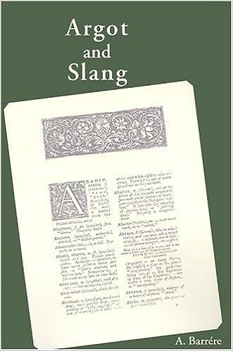 Argot and Slang