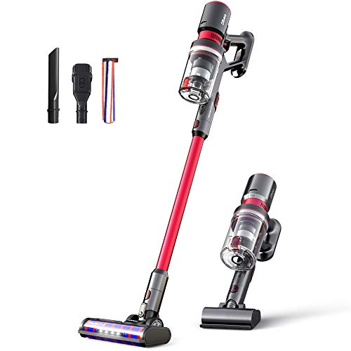 Dibea Portable Cordless Vacuum Cleaner Handheld Powerful 25KPa Low Noise Lightweight Smart Stick Multi-Function Vacuum for Floor Carpet Car Pet Hair F20MAX