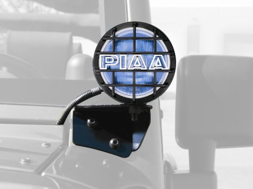 PIAA 5410 540 Series Xtreme White Plus Driving Vehicle Specific Kit with Windshield Brackets for Jeep Wrangler JK