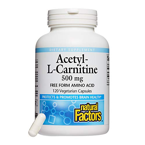 Natural Factors – Acetyl L-Carnitine 500mg, Promotes Normal Healthy Brain Function, 120 Vegetarian Capsules