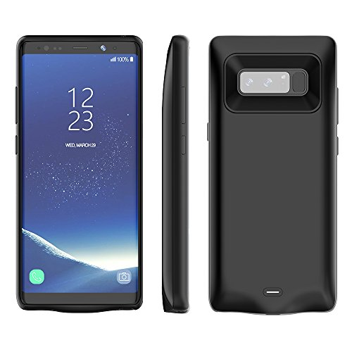 RUNSY Galaxy Note 8 Battery Case, 5500mAh Rechargeable Extended Battery Charging Case for Samsung Galaxy Note 8, External Battery Charger Case, Backup Power Bank Case (Black)