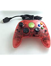 Donop Clear Red Wired Controller for Xbox,S-Type Shock Vibration Feedback Motors Game Pad Game Joysticks Gaming Controller Joypad Gamepad Console Controller