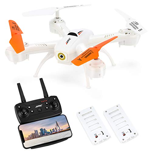 JJRC H72 Rc Drone with 720P HD Camera Live Video for Beginners,APP Control FPV Real Time Transmission,16mins Flying Time Quadcopter with 2 Batteries,Drone for Kids,Altitude Hold,Throw to Fly (White)