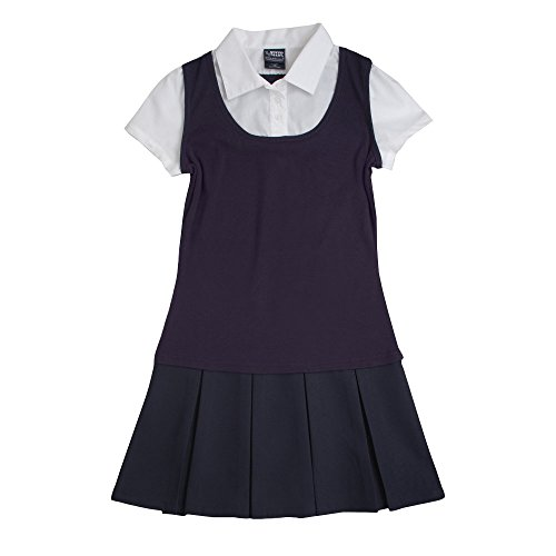 French Toast Little Girls' 2-Fer Pleated Dress, Navy, for sale  Delivered anywhere in USA
