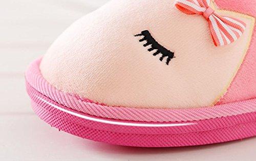 Stil Karikatur Baumwolle Hausschuhe Herbst Winter Rutschfest Abdeckung Hacke Hausschuhe Zuhause Baumwolle Schuhe zum Liebhaber Kaffee