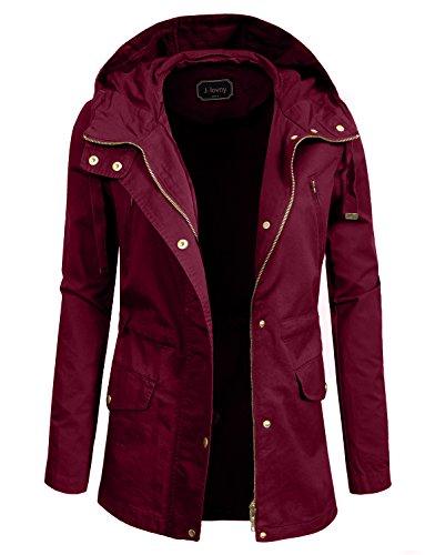 (J. LOVNY Women's Versatile Military Anorak Jacket)