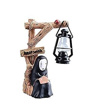 fannuoyi Spirited Away Kaonashi No Face Man Night Light Best Gift Home Decor Craft Decorative Lights (Light with Knitting)