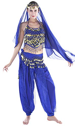 Halloween Costumes for Women Bollywood Costume for Women Genie Outfits]()