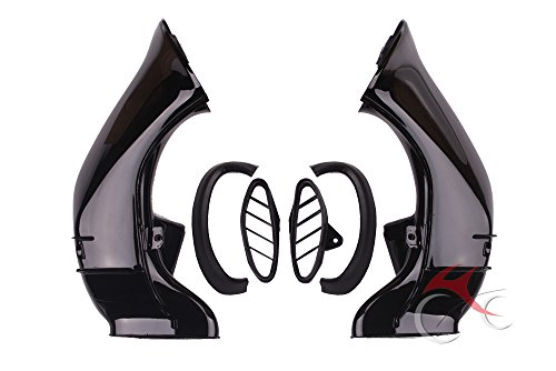 XMT-MOTO Ram Air Intake Tube Duct Pipe fits for YAMAHA YZF R1 2004 2005 2006 ()